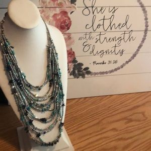 Preloved multi-strand Chico's turquoise necklace